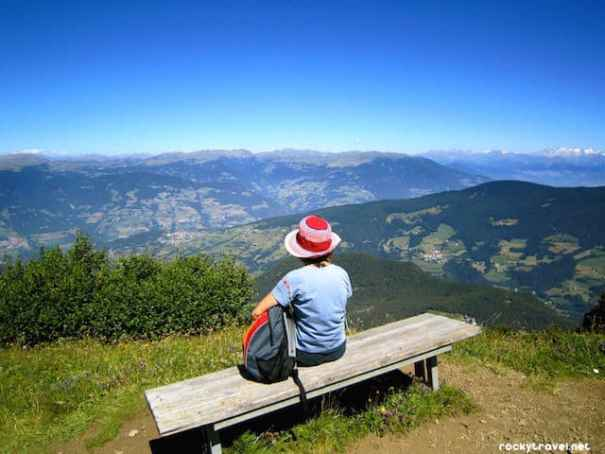 Hiking in the Dolomites Alpe di Siusi