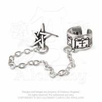 Pentagram Cuff-Stud Earring - Rockzone
