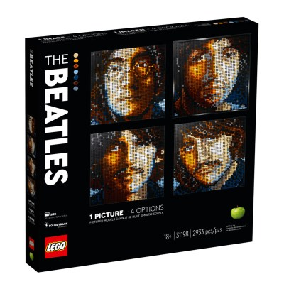 Rocobricks. LEGO ART. Set de LEGO de coleccionista. The Beatles