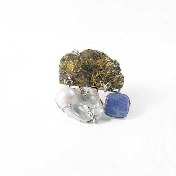 spilla-pendente-fatto-a-mano-argento-roco-preziosi-pietre-dure-perla-bucaneve