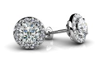 Surrounded By Diamonds Designer Stud Earrings - Roco's ...