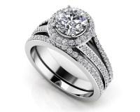 Dazzling Four Row Diamond Engagement Set - Roco's Jewelry ...