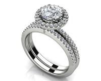 Eternal Dreams Round Diamond Wedding Ring Set