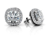 Ravishing Cushion Cut Diamond Studs