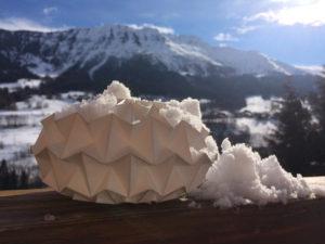 Origami Montagne papier mineral