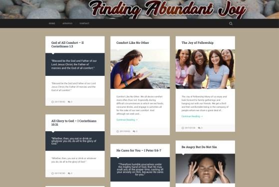 Finding Abundant Joy website