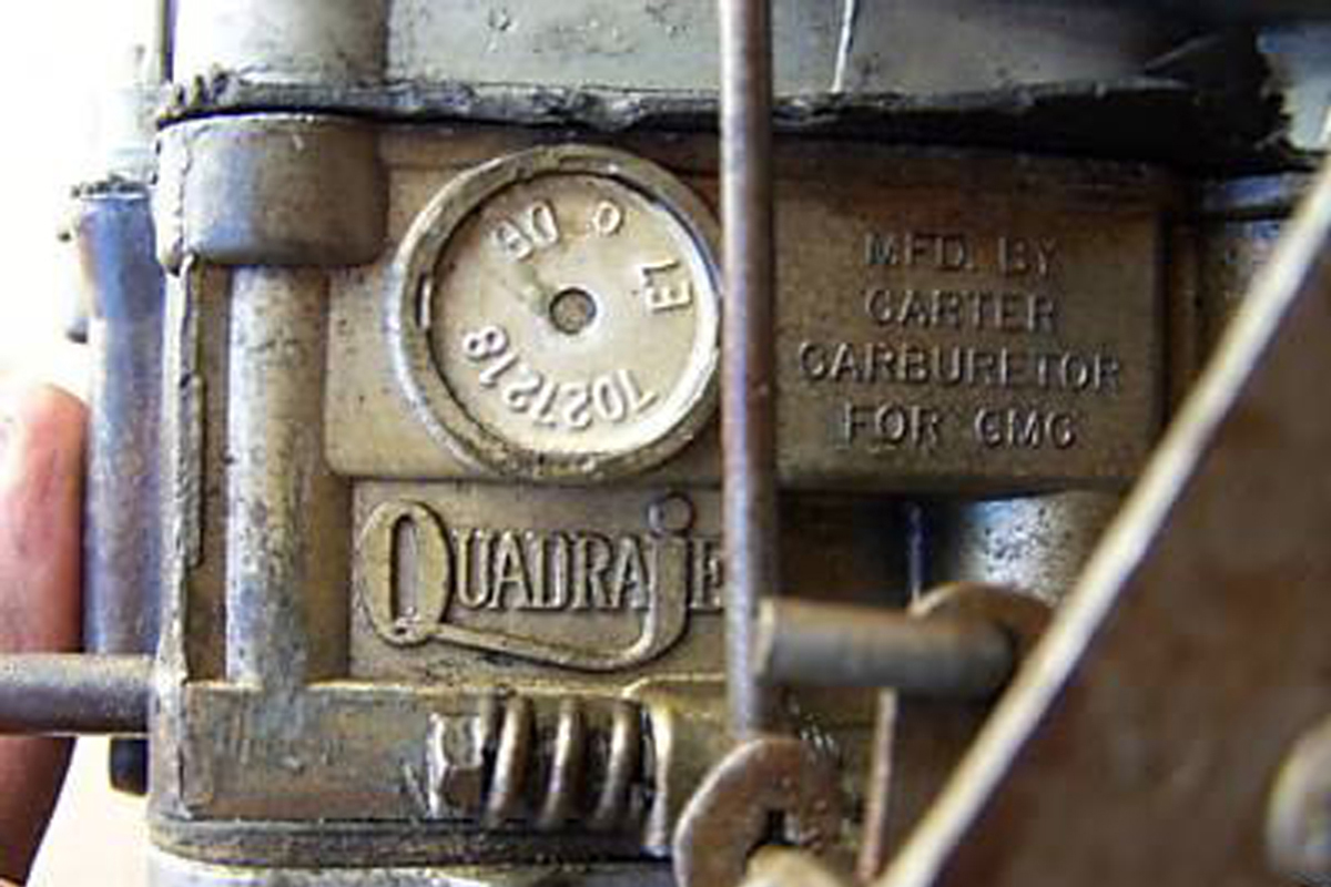 hight resolution of carburetors built before mid 1968 have a tag with the part number in late 1968 the seven digit part number was stamped vertically into the main housing