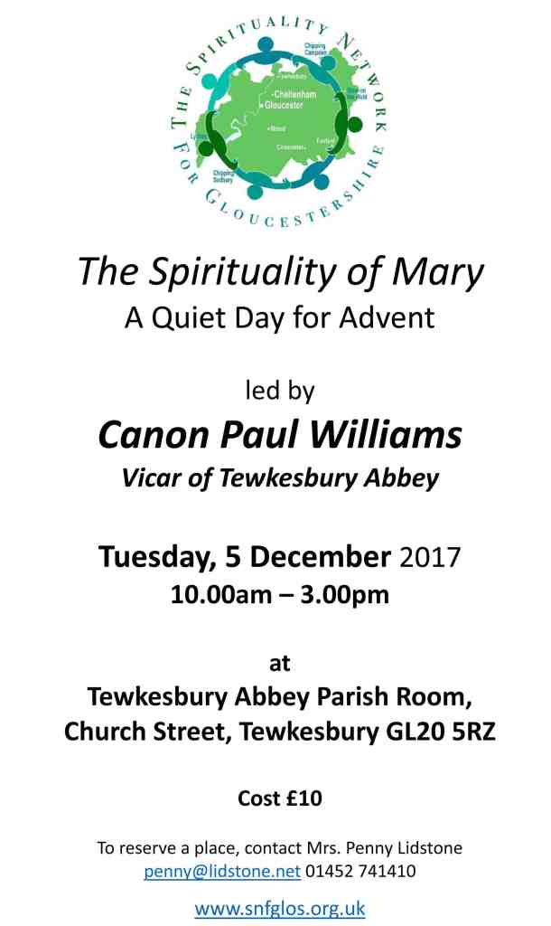 2017 Advent Quiet Day poster
