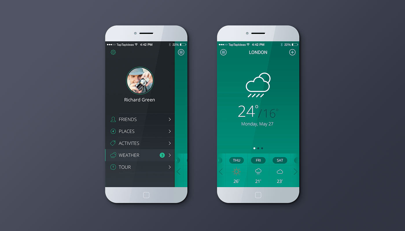 Mobile app – green version