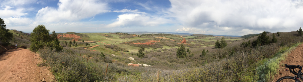 Patrick Charles took this nice pano before descending into the Park.