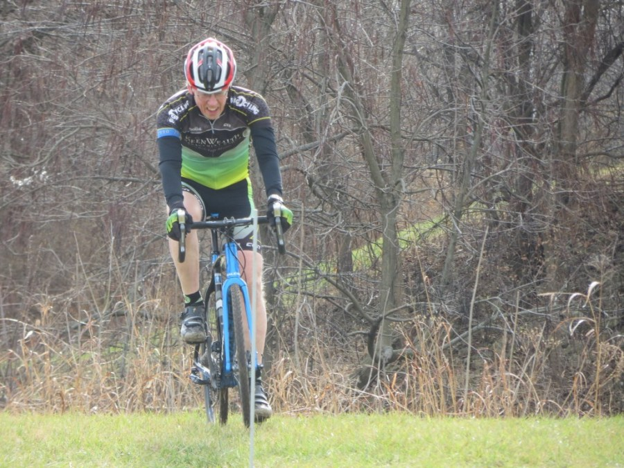 Bill rides for Big D Racing, but I look forward to seeing him in a Rodeo 2.0 kit this year.  He's rocking a brand new carbon Raleigh CX bike with Di2.  I hope to be doing the same when I'm 72.
