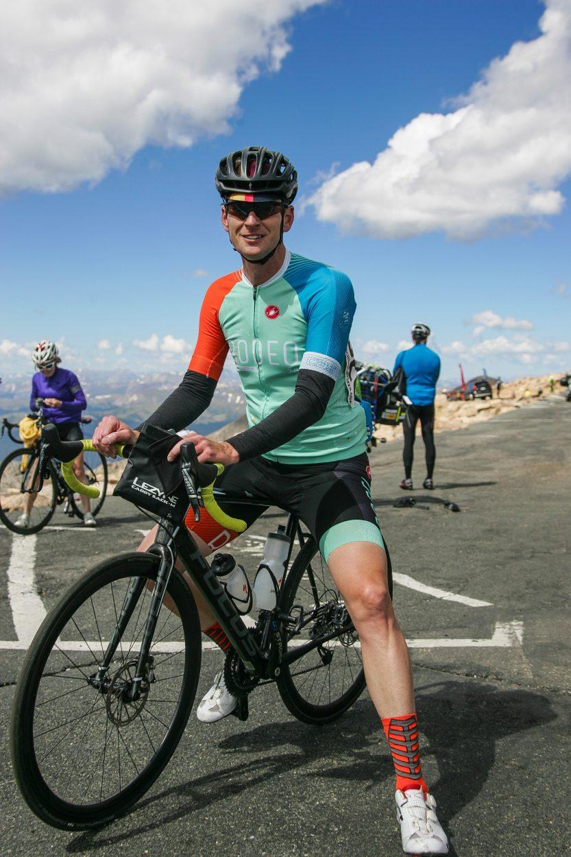 Kevin Masten at the finish. Photo by Reid Neureiter.