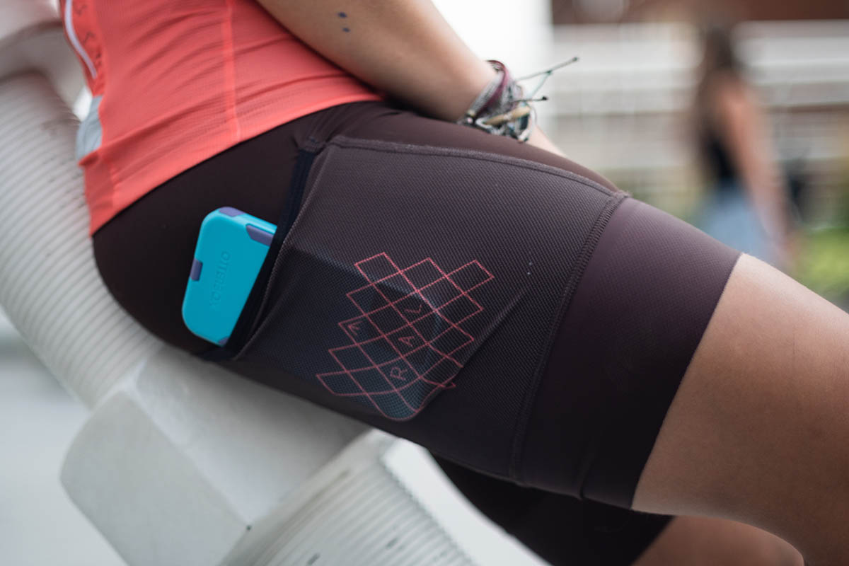 Women's specific bibshorts have a slightly shorter inseam based on feedback from our female test riders.