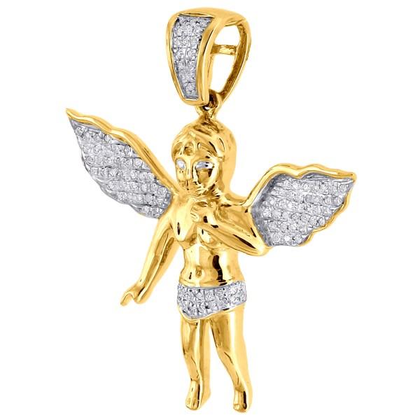 10K Yellow Gold Angel Pendant