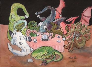 dino tea party
