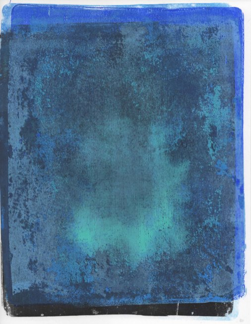 Blue Spirit Monotype