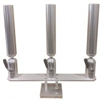 Cisco Triple Rod Holder on Quick Release Base 2/16 - PKTQR