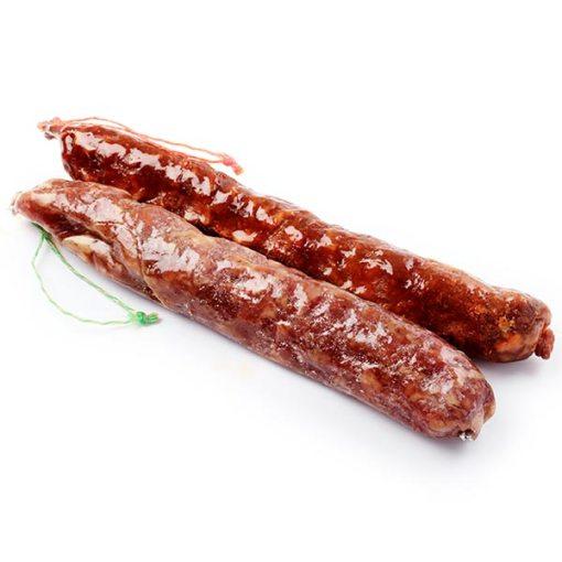 Rodi Gourmet chorizo y longaniza. Embutidos curados. Garnacha 1 chorizo y 1 longaniza en caja