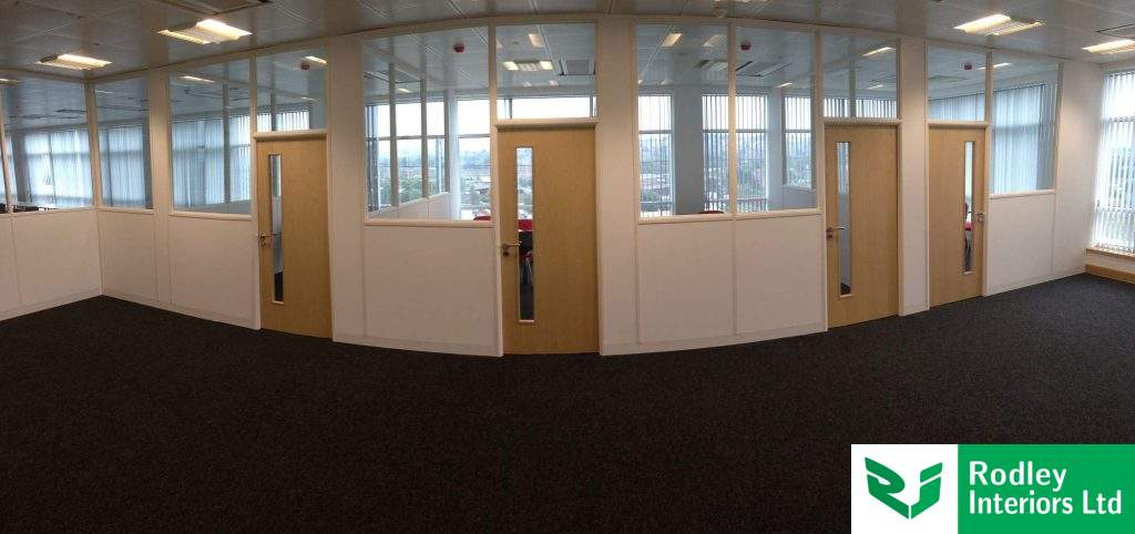 Glass partitioning in Leeds