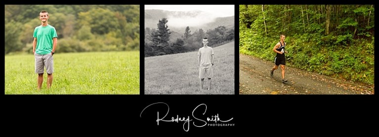 Rodney Smith Photography, senior guy portraits, field, cross-country, mountains, western NC