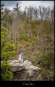 linville gorge wilderness area engagement couple