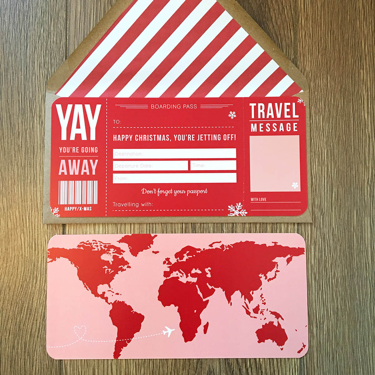 Christmas Boarding Pass Gift Designed By Rodo Creative In