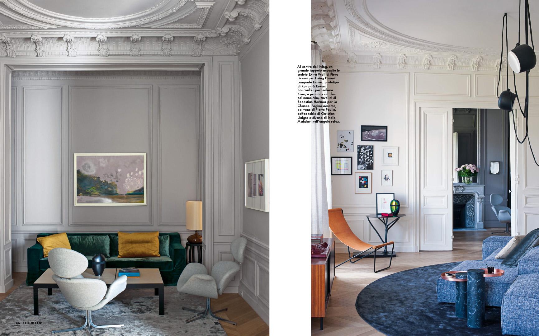 I migliori divani di design sono da fattorini. Elle Decor New Classic En Rodolphe Parente Architecture Design Architecture Interieure Retail Design