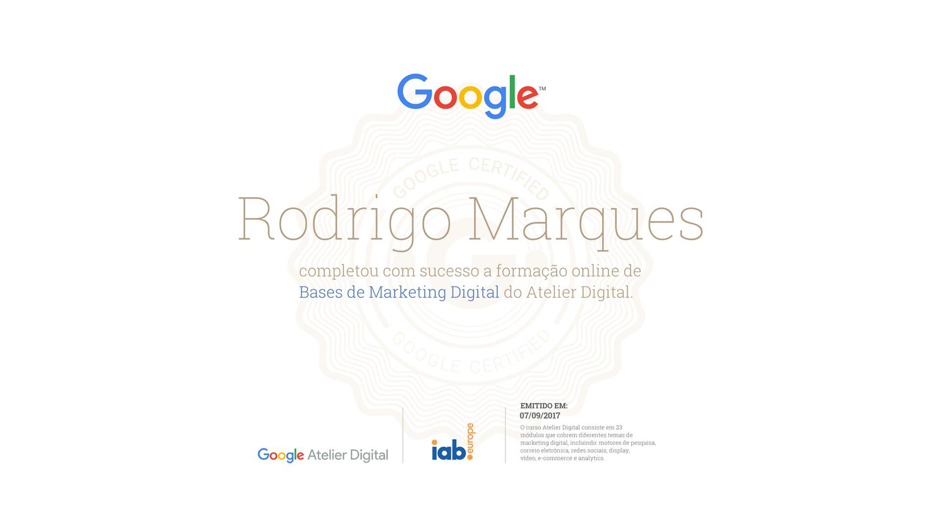 Imagem - Atelier Digital Google