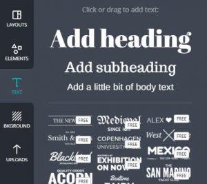 Agora, vamos inserir títulos. Você pode optar por títulos prontos, logo abaixo, ou títulos personalizados, acima. Clique sobre um deles.