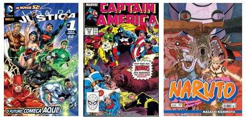 Muitas capas de HQ, principalmente quando há muitos personagens envolvidos, contém muitos elementos.