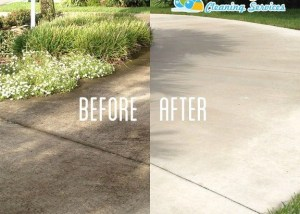 Picture of a driveway clean