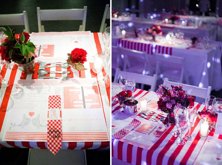 Señal de Diseño - Los detalles de las mesas