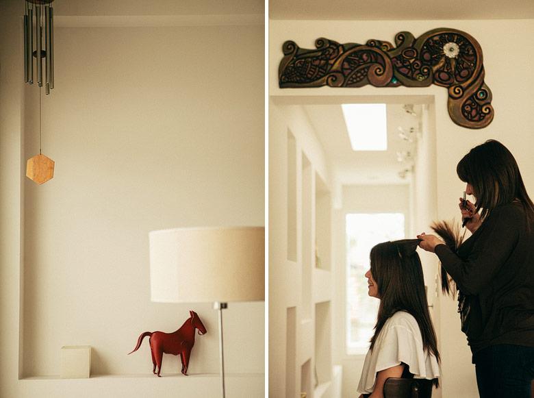 Preparacion de la novia en su casa