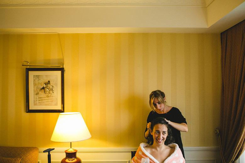 Getting ready de la novia en el Hotel Emperador