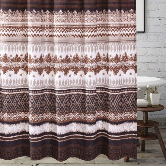 western inspired shower curtains