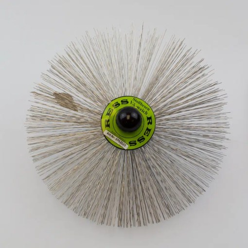 250mm stainless steel Brush made of round wire with an M10 thread.