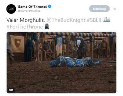 Valar Morghulis Bud Knight