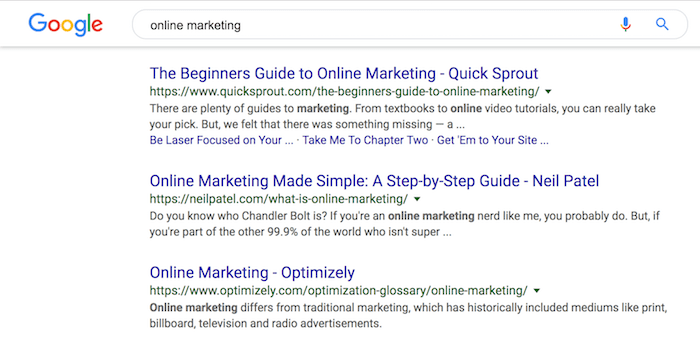 online marketing rankings