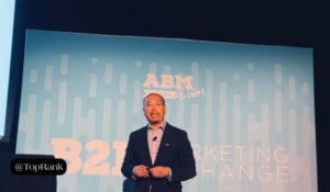 Oracle's Kelvin Gee at B2BMX