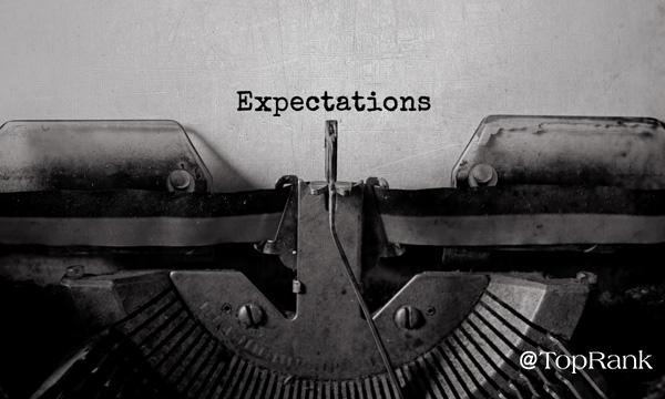 Expectations Typewriter Image