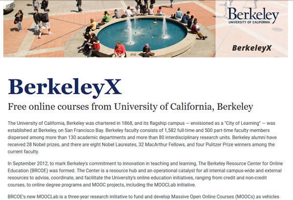 BerkeleyX Screenshot Image