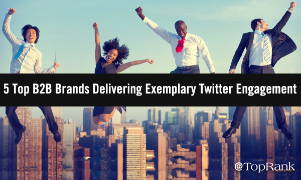 Four happy businesspeople jumping above cityscape.