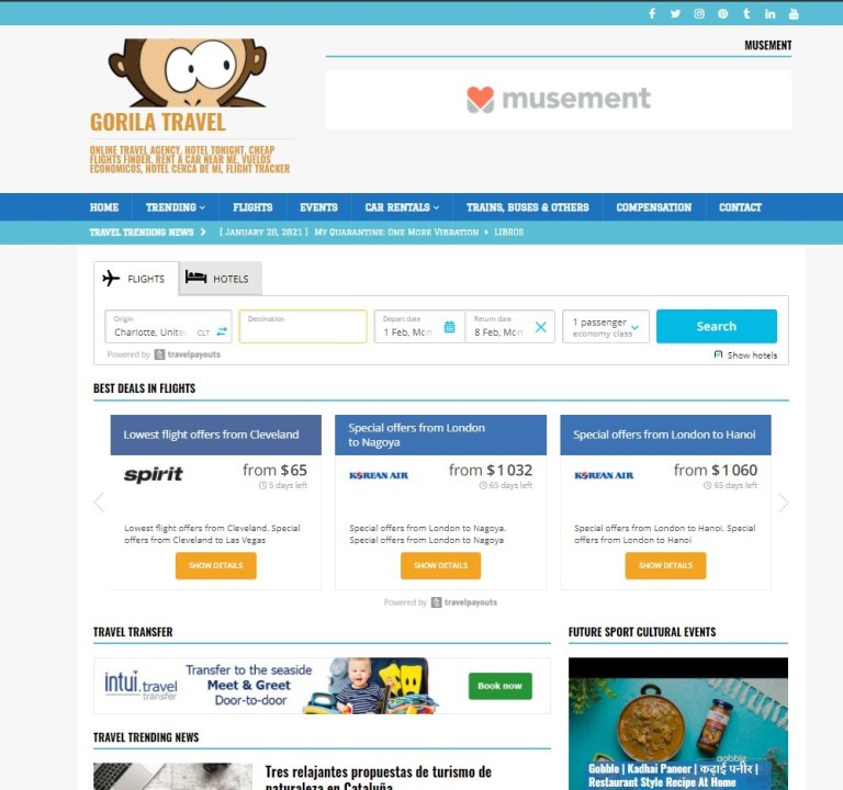 Affiliate Marketing Online Travel Agency