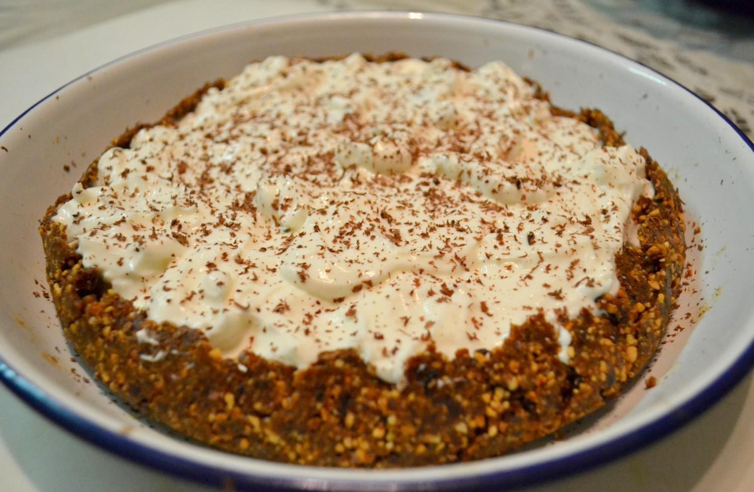 Healthy homemade Banoffee Pie