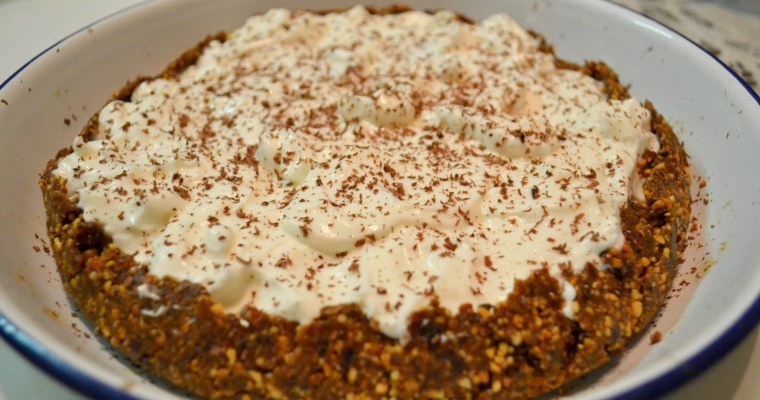 Healthy homemade Banoffee Pie