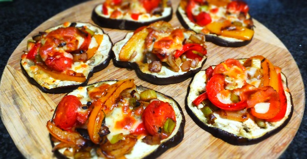 Aubergine Base Mini Pizzas