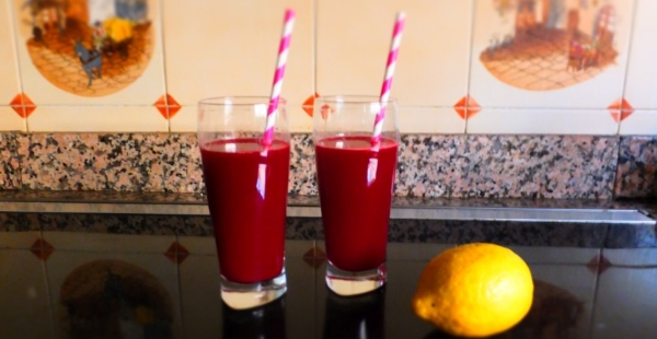 Beetroot, apple and ginger juice