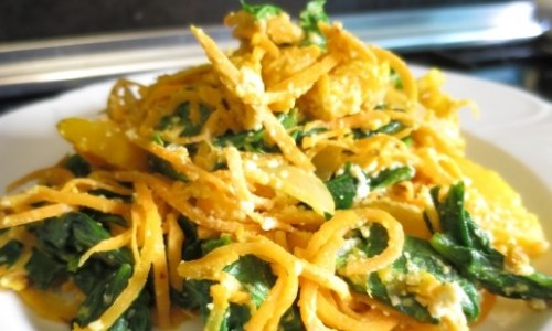 Creamy Spinach Sweet Potato Noodles