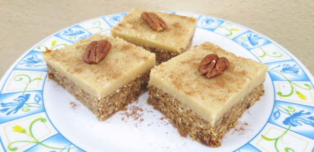 Raw Carrot Cake Bars