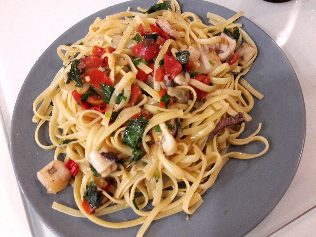 Cuttlefish and Seafood pasta